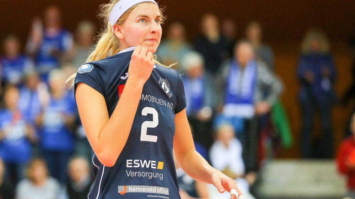 1- Volleyball Bundesliga Damen   2018.2019   3. Spieltag   auswärts   Rote Raben Vilsbiburg - VC Wiesbaden   3:0 – Nele Barber ©2018 Detlef Gottwald