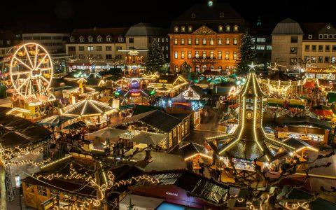 Weihnachtsmarkt in Hanau, einer von vielen in Hessen. @2018 Hanau Marketing