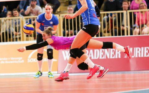 Volleyball Frauen Bundesliga | 2018.2019 | 5. Spieltag | VC Wiesbaden - USC Münster | 1:3