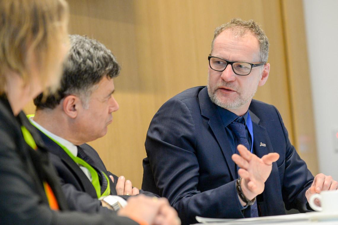 PK mit Prof. Marcus Richter (links) und Prof. Giovanni Maio. Foto: Paul Müller / DWG