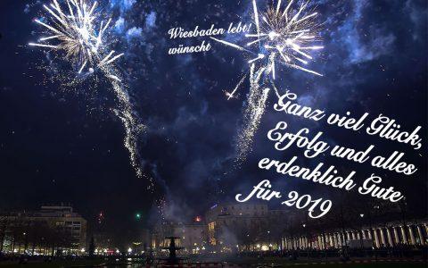 Wiesbaden lebt! wünscht ein Frohes neues Jahr 2019. @2018 Wiesbaden lebt