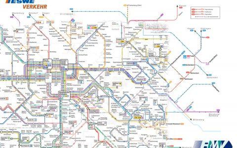 Netzplan von RMV und ESWE Verkehr. ©2018 RMV | ESWE Verkehr | Wiesbaden lebt!