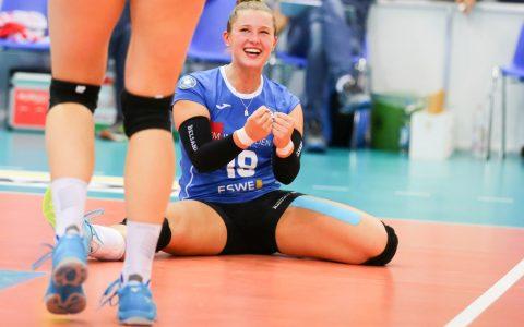 Lisa Stock in Straubing – Volleyball 1. Bundesliga | 2018.2019 | 4. Spieltag | Nawaro Strubing – VC Wiesbaden | 2:3