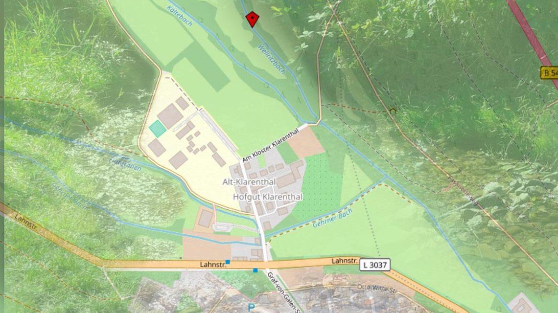 Das Wellritztal zwischen Wellritzmühle und Kurt-Schumacher-Ring wird renaturiert. ©2018 Open Street Map / Watschounek
