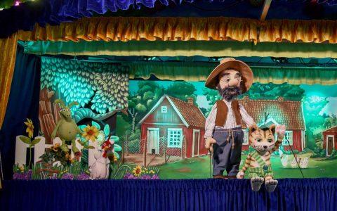 Petersson und Findus , Figurentheater zu Gast in Wiesbaden. ©2019 Augsburger Figurentheater Maatz