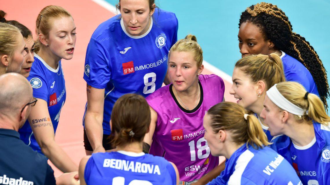 1. Volleyball Bundesliga Frauen | 2018/2019 | 10. Spieltag | VC Wiesbaden – SSC Palmberg Schwerin | 0:3
