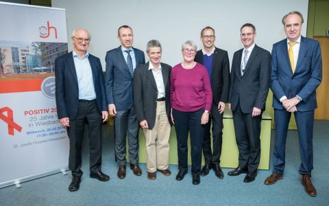 v.l.n.r. – Dr. Klaus Tischbirek, Prof. Dr. Christoph Sarrazin, Dr. Frieder Katz, Dr. Helga Brenneis, Kai Klose, Martin Bosch, Thomas Reckmeyer