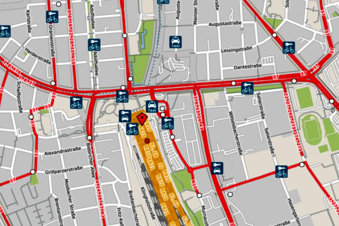 ESWE Verkehr - Angebotserweiterungen ©2019 OPENSTREETMAP