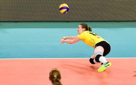 1. Volleyball Bundesliga, 13. Spieltag, 2018.2019, VC Wiesbaden - Allianz MTZ Wiesbaden, 0:3, im Bild ist Sina Fuchs. Nächster Gegner, die Roten Raben Vilsbiburg