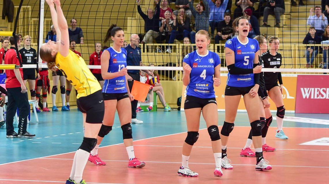 VBL Frauen | Saison 2018/2019 | 16. Spieltag | VCW - Rote Raben Vilsbiburg | 1:3 ©2091 Volker Watschounek