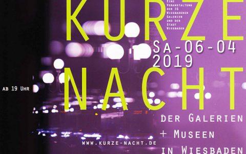 Kurze Nacht der Galerien und Museen in Wiesbaden am 6. April