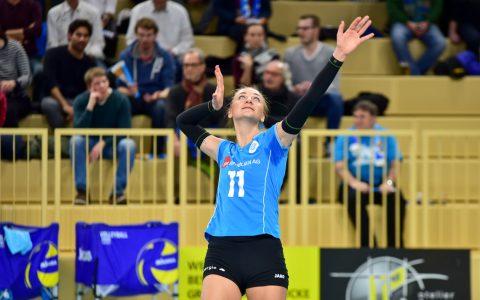 Simona Kosova im Dienste des VCW