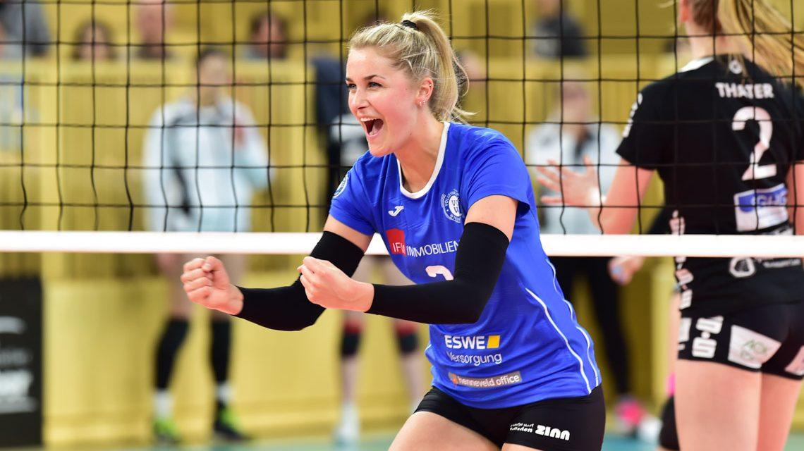 Der VCW gewinnt gegen Schwarz-Weiß Erfurt
