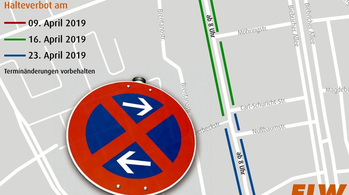 Wenn die Straßenreinigung kommt. Halteverbotszonen. nach dem Pariser Model. ©2019 ELW