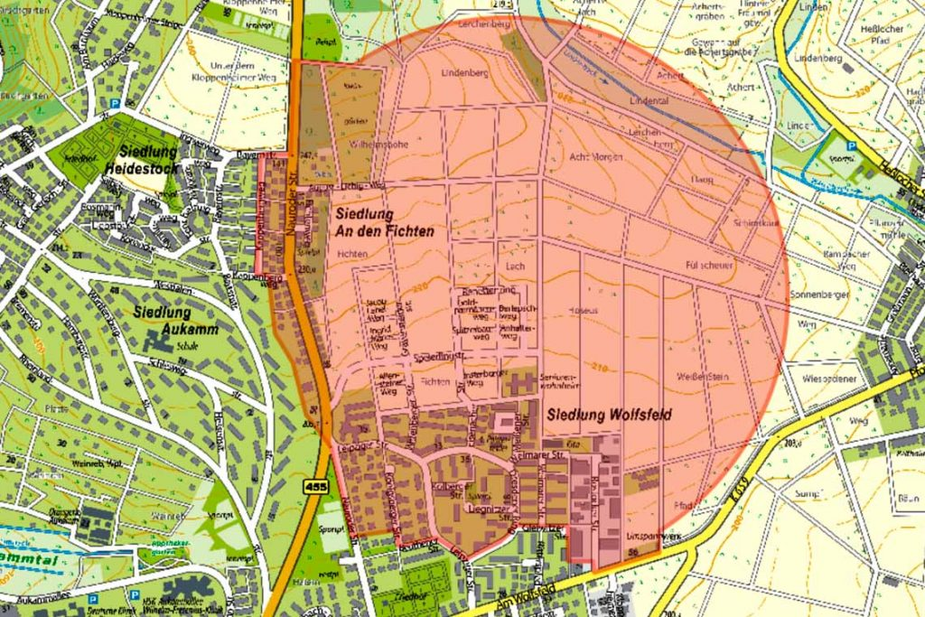 Weltkriegsbombe @2019 Geoprortal Wiesbaden