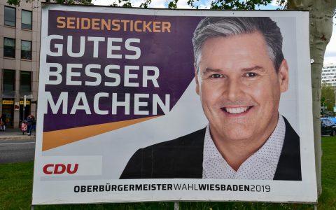 Wahlplakat von Eberhard Seidensticker. ©2019 Volker Watschounek