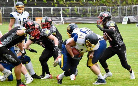 Für das GFL2-Team der Wiesbaden Phantoms war im Saarland nichts zu holen. ©2019 Clemens Maas
