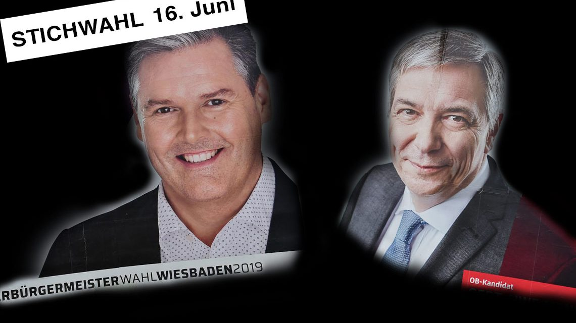 OB-Wahl, OB-Stichwahl: Eberhard Seidenstricker, CDU geht am 16. Juni in die Stichwahl.Sein Gegner Gert-Uwe Mende. ©2019 Volker Watschounek