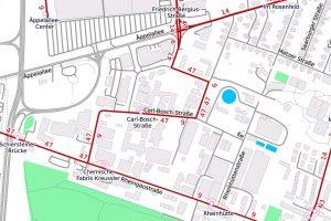 Carl-Bosch-Straße in Biebrich ©2019 Openstreetmap