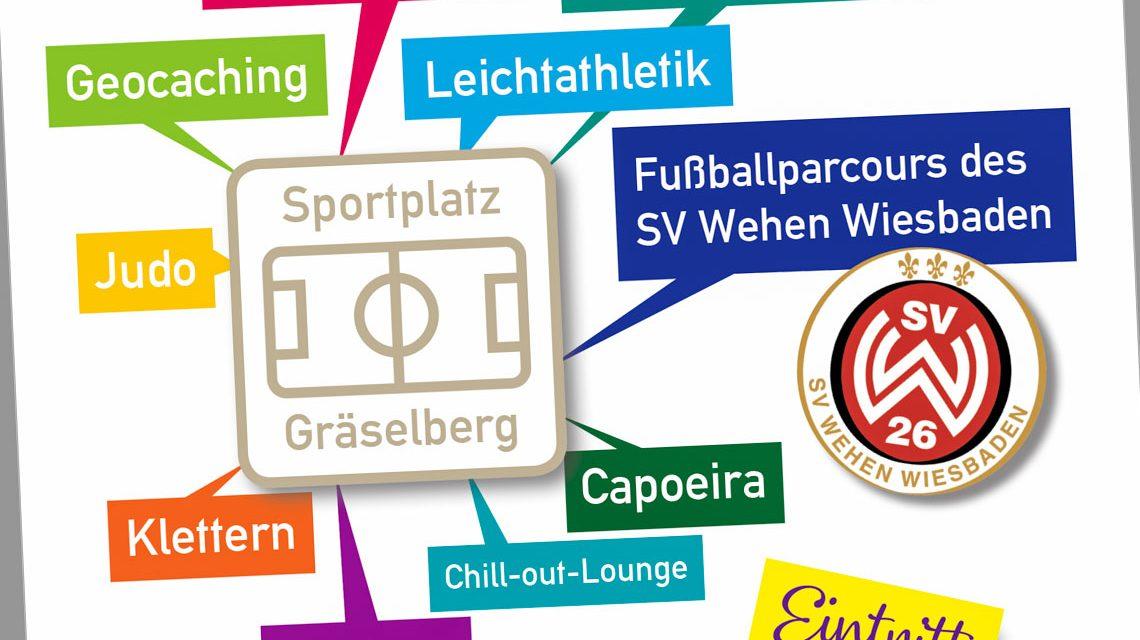 Sport und Mitmachfest am Sportplatz Gräselberg. ©2019 Wiesbaden