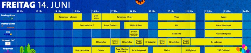 Das Wilhelmstraßenfest auf der Rue am Freitag.