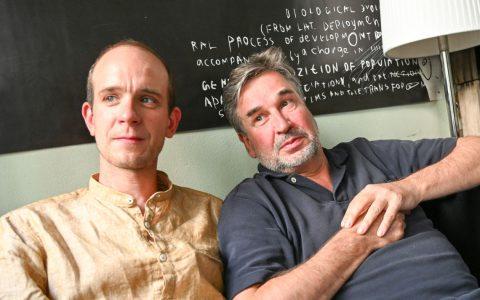 Hannes Seppelt und Holger Schwedler, dsie neuen Gesichter im Literaturhaus-Café in der Villas Clementine. ©2019 Volker Watschounek