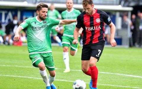 2. Fußball Bundesliga, Saison 2019.2020, 2. Spieltag, SV Wehen Wiesbaden Hannover 96, 0-3