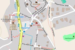 Hofgartenplatz in Wiesbaden Sonnenberg @2019 Openstreetmap