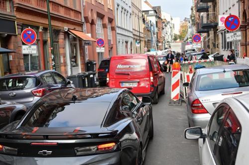 Auch über die Nerostraße gibt es kein Durchkommen.